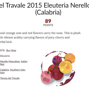 Eleuteria su Wine Enthusiast – 2015